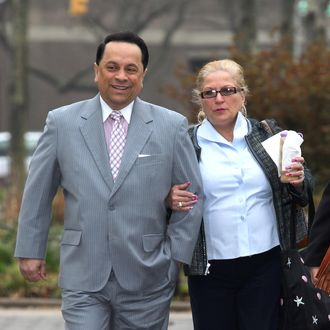 Former US State Senator Pedro Espada arrives at Brooklyn Federal Court for his trial on March 21st.