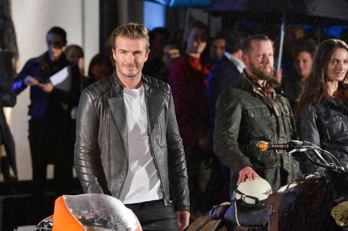 David Beckhams Post Soccer Career Involves Sexy Motorbiking