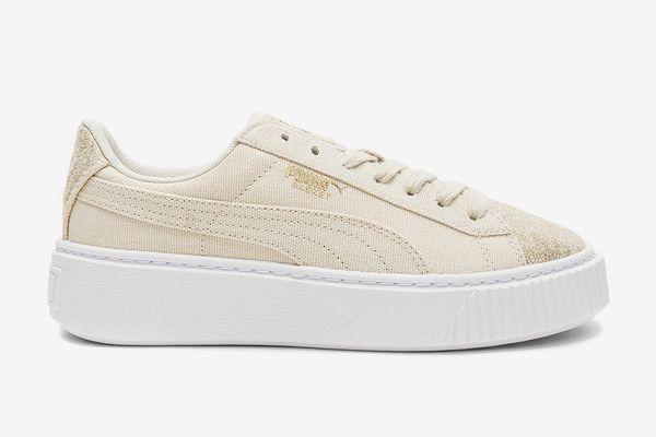 Puma Basket Platform Canvas Sneaker