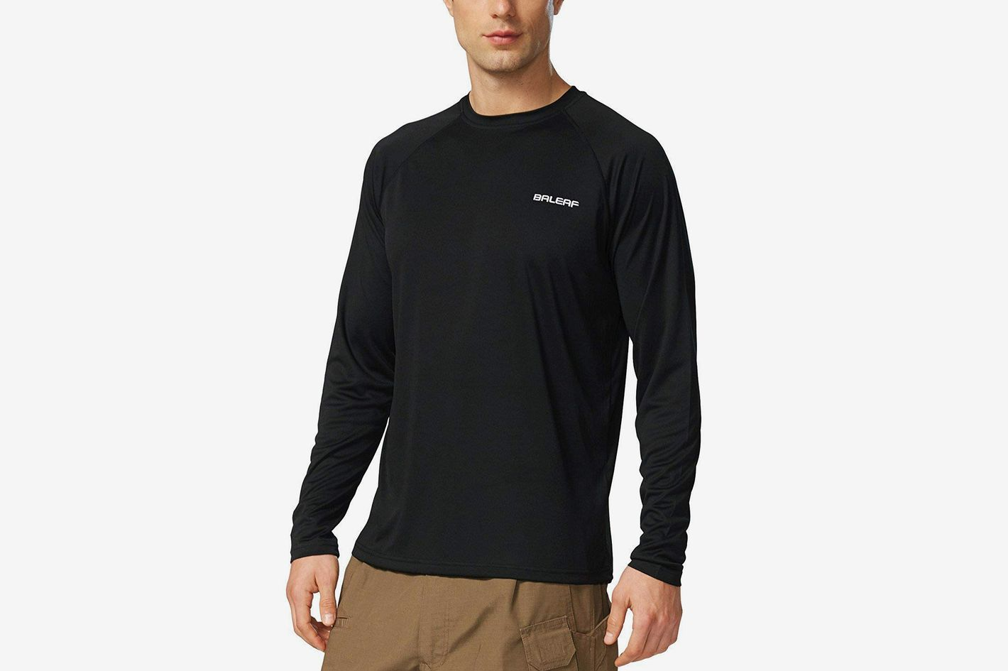 ab7b65676da Baleaf Men s UPF 50+ UV Sun Protection Outdoor Running Performance T-Shirt