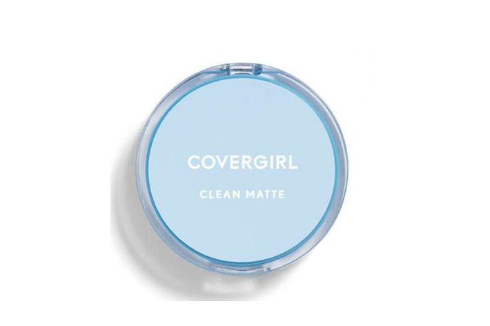 Baby blue Covergirl circle pressed powder compact