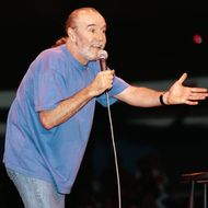 24 Aug 1991 --- Comedian George Carlin Performing.