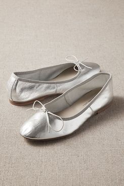 silver anniel arion flats - strategist best silver flats for women