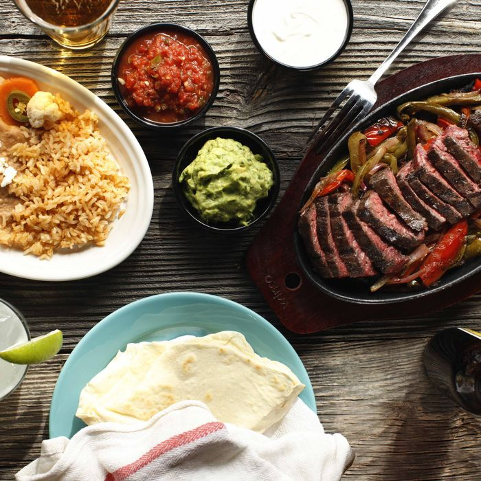 The restaurant's fajita spread.