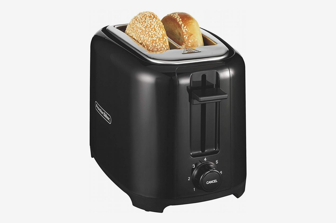 Proctor Silex 22215 Toaster with Wide Slots & Toast Boost, 2-Slice, Black