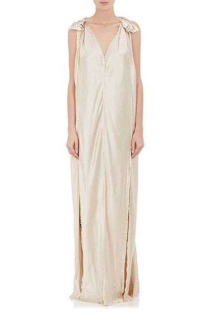 Lanvin Raw-Edge Silk Wedding Gown