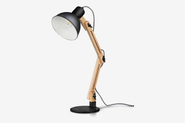 Tomons Scandinavian Swing Arm Wood Desk Lamp