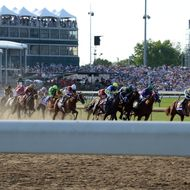 LOUISVILLE, KY - MAY 03:  A general view of atmosphere at 140th Kentucky Derby  at Churchill Downs on May 3, 2014 in Louisville, Kentucky.  (Photo by Theo Wargo/Getty Images for Grey Goose)