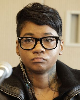 NEW YORK, NY - OCTOBER 19: Jean Grae attends the Intersection of Hip Hop & Jazz panel during the CMJ 2011 Music Marathon and Film Festival at the NYU - Kimmel Center on October 19, 2011 in New York City. (Photo by John Lamparski/WireImage)