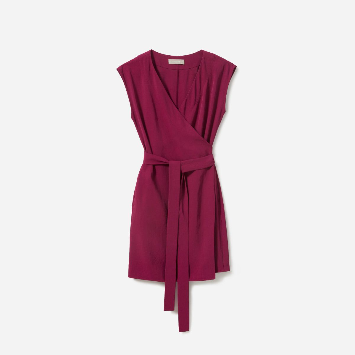 Everlane The Japanese GoWeave Short-Sleeve Mini Wrap Dress