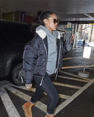 Rihanna and her shoes.