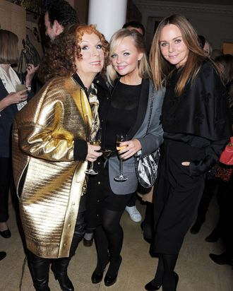 Jennifer Saunders as Edina, Emma Bunton (also making an appearance), and Stella McCartney.