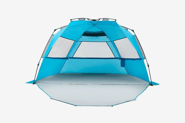 Pacific Breeze Easy Setup Beach Tent Deluxe XL With Extendable Floor
