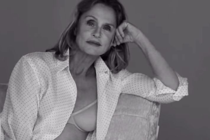 73-Year-Old Lauren Hutton Featured In Calvin Klein Underwear Ad
