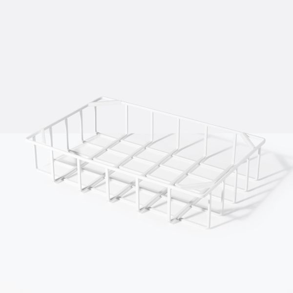 Tower White Small Stackable Basket