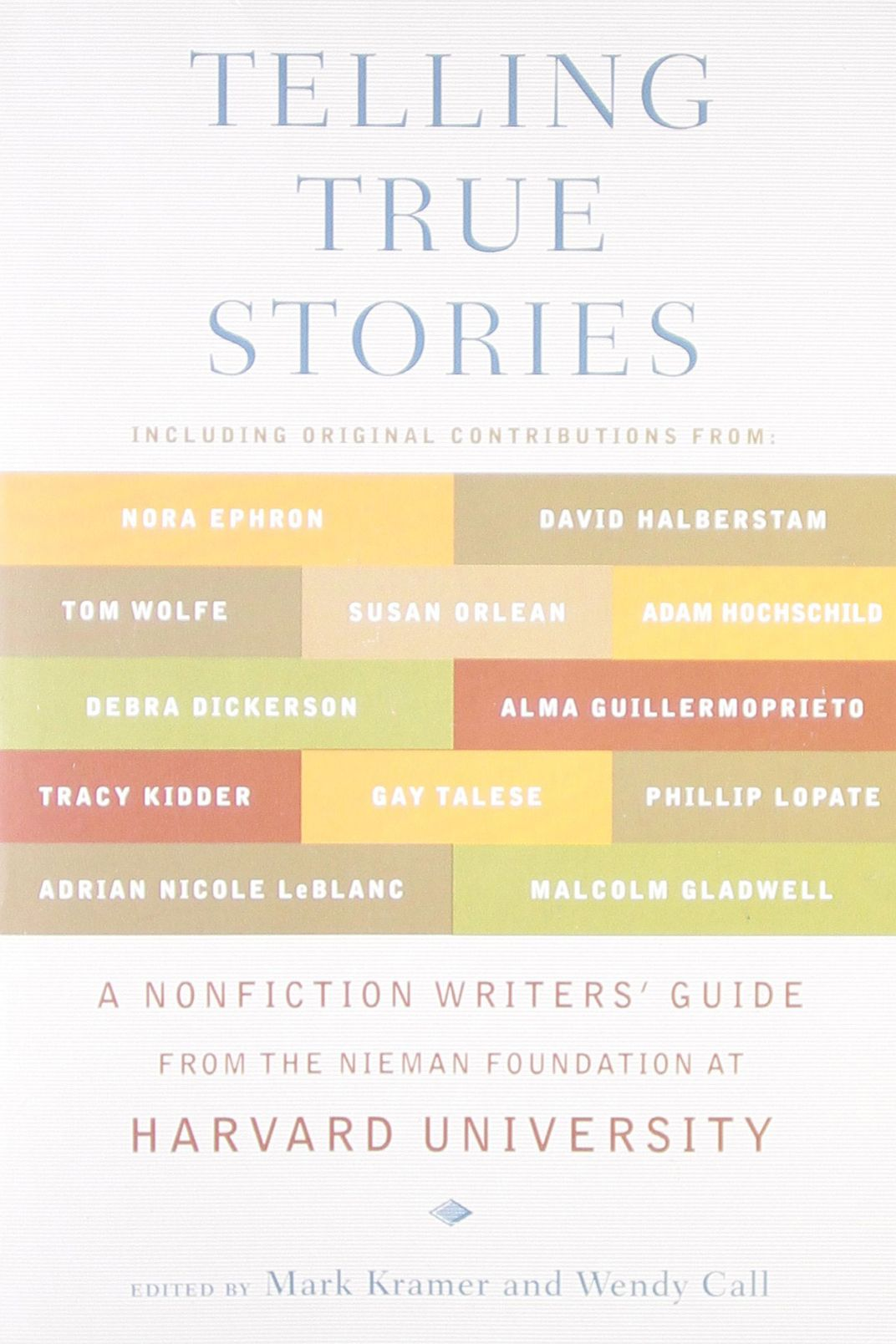 Telling True Stories:  A Nonfiction Writers' Guide from the Nieman Foundation at Harvard University edited by Mark Kramer and Wendy Call