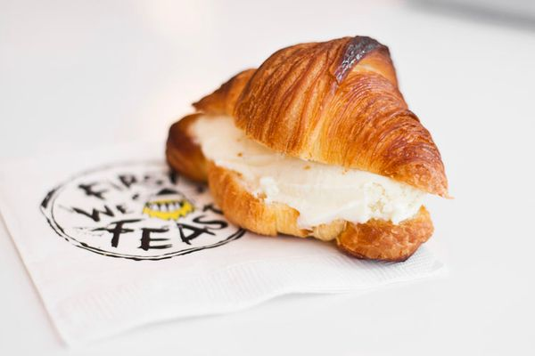 Morgenstern's Launches 'Kanye West Ice Cream Week' With an Arcade Bakery Croissantwich