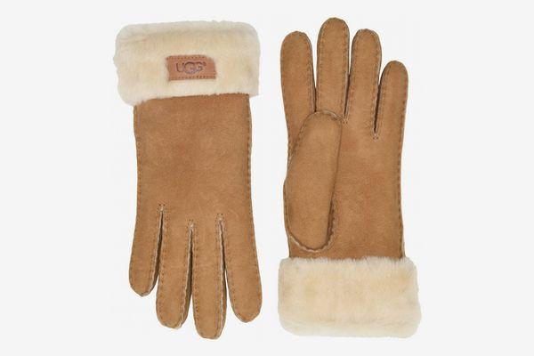 UGGTurn Cuff Water Resistant Sheepskin Gloves