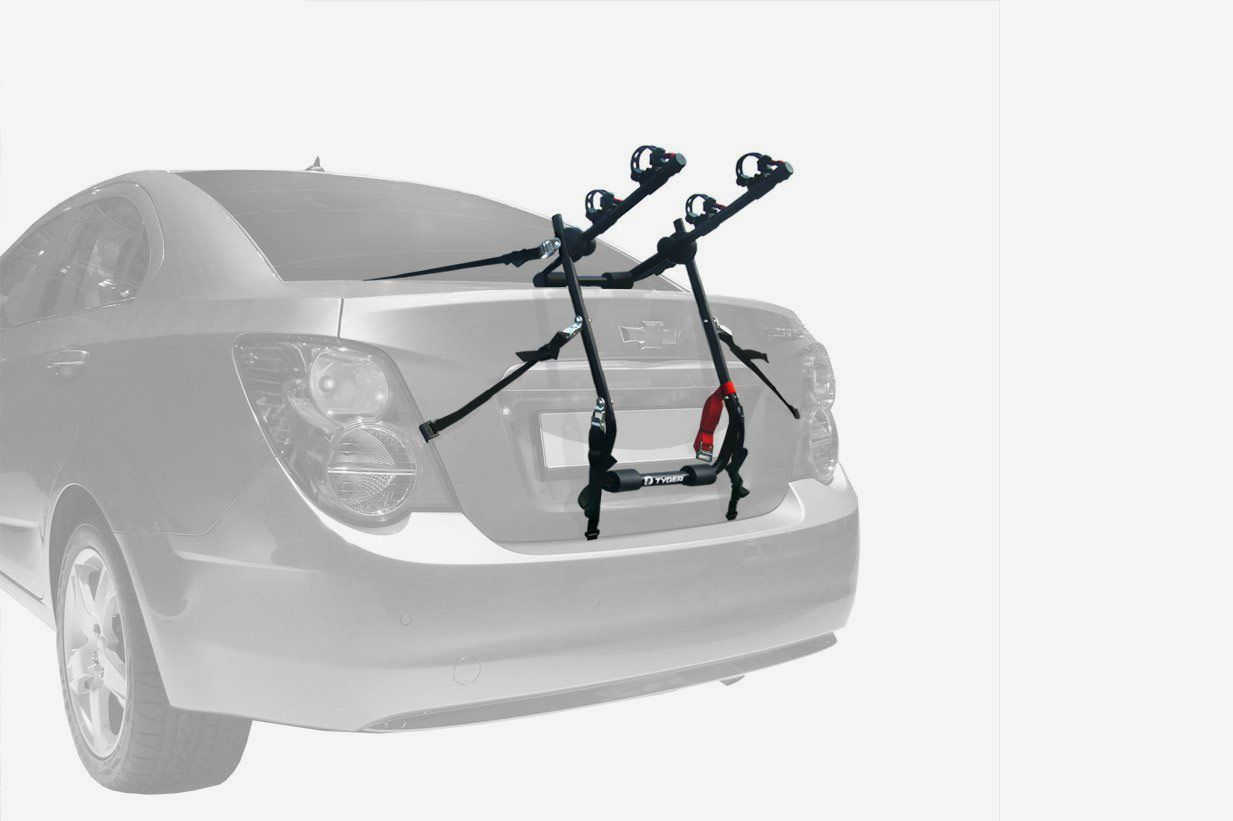 Tyger Auto TG-RK2B202B Deluxe Black 2-Bike Trunk Mount Bike Rack