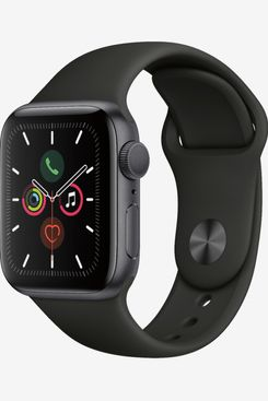 Apple Watch Series 5 (GPS) 40mm Space Gray Aluminum Case with Black Sport Band - Space Gray Aluminum