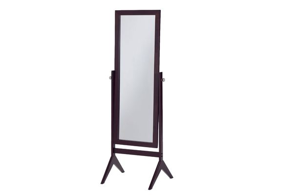 eHomeproducts Espresso Finish Wooden Cheval Bedroom Floor Mirror