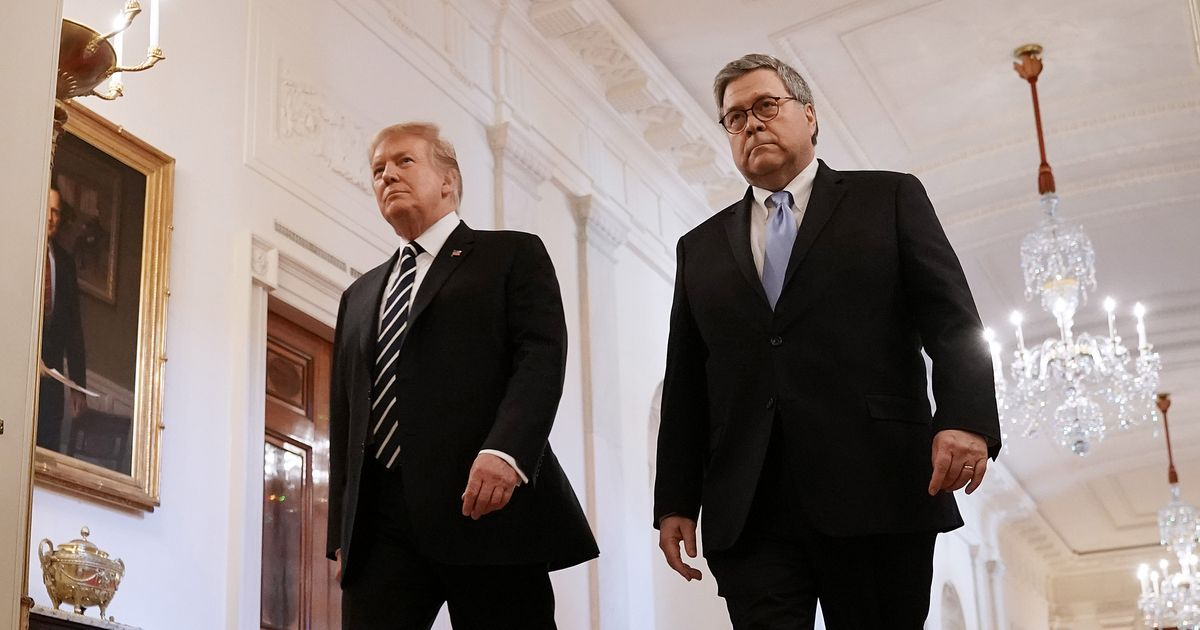 William Barr Is Going After Trump's Enemies One by One