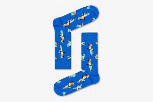 Happy Socks Blue Parrot Socks