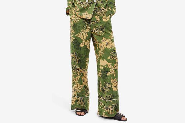 Topshop Tropical Pajama Trousers
