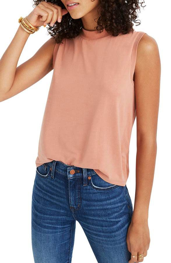 Madewell Sandwashed Mock Neck Tank
