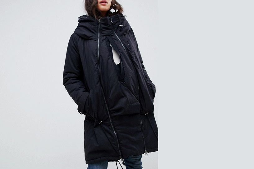 Mamalicious Maternity Padded Parka With Post Birth Functionality