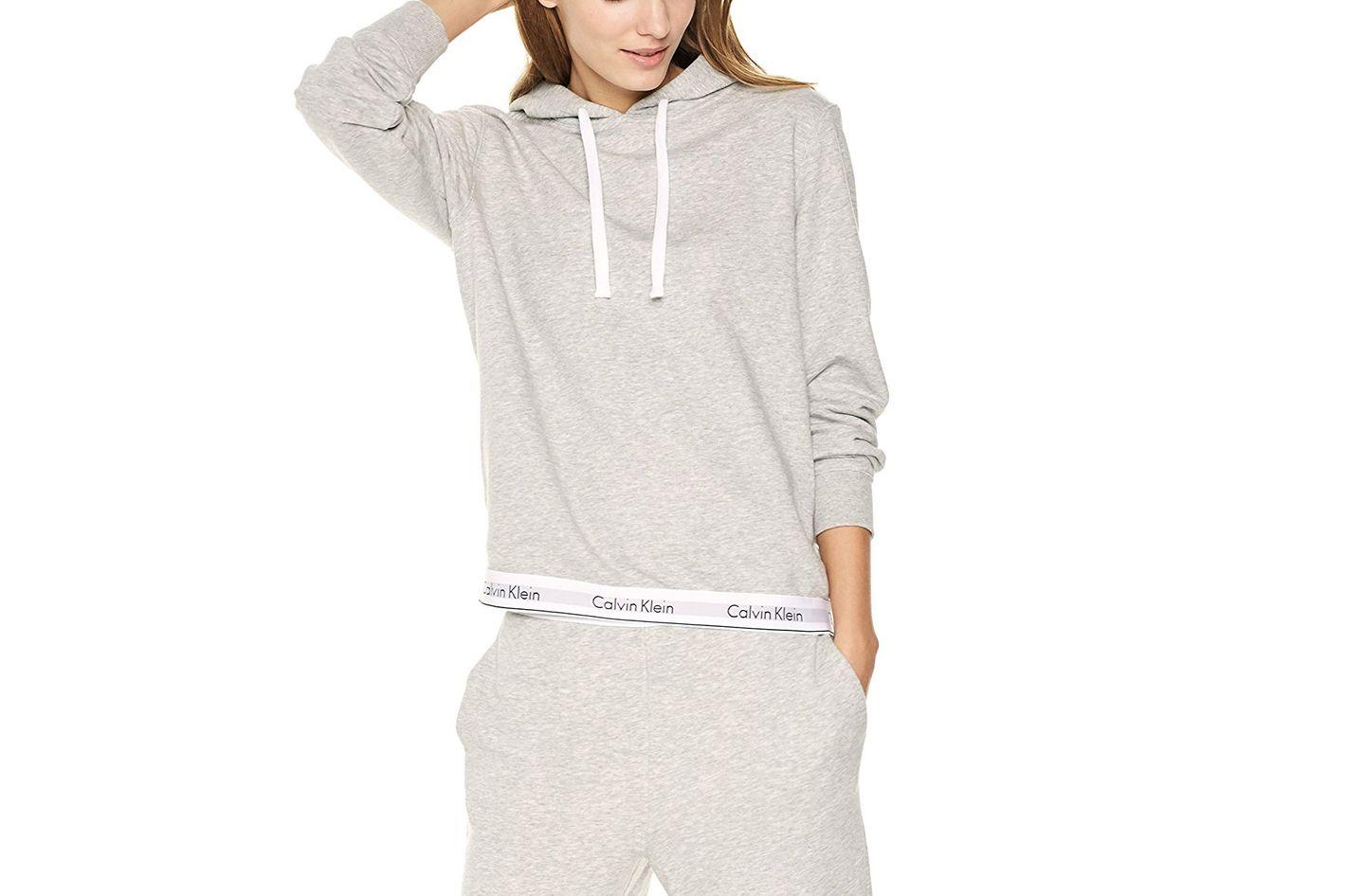 Calvin Klein Women's Modern Cotton Lounge Drawstring Hoodie