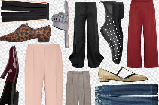7 Ways to Pull Off Wide-Leg Trousers and Flats -- The Cut