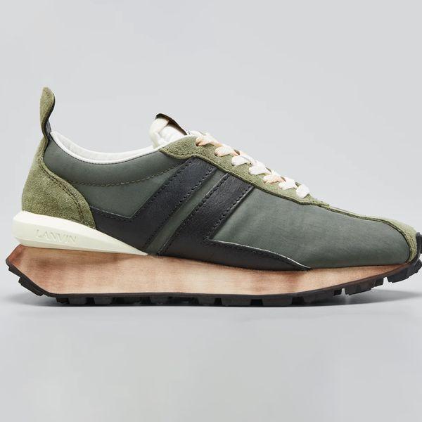 Lanvin Runner Colorblock Sneakers