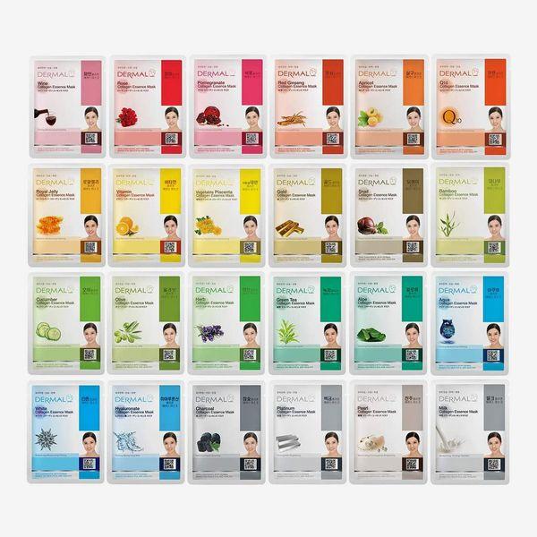 DERMAL Collagen Sheet Mask (Pack of 24)