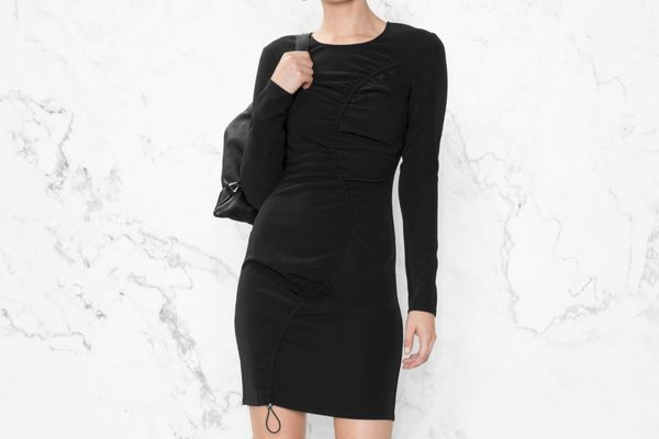 Drape Longsleeve Dress