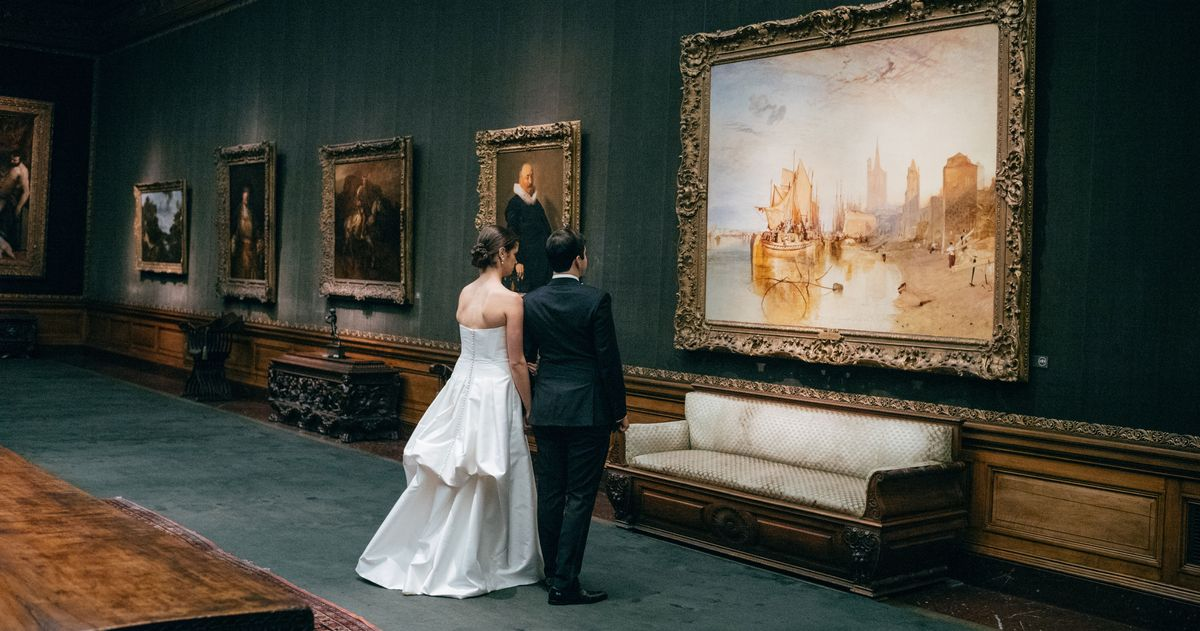 A Glamorous Wedding at the Frick Museum