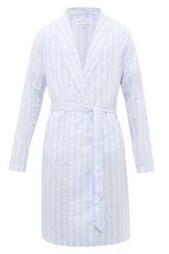 Hamilton and Hare Striped Cotton Robe