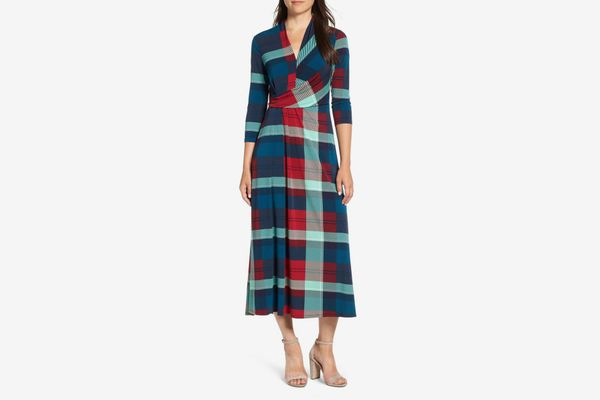 Chaus Banner Plaid Maxi Dress