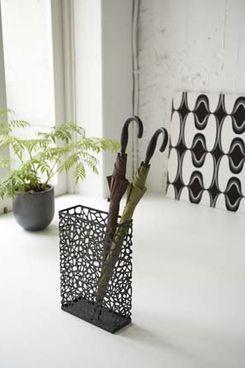 Yamazaki Nest Black Metal Rectangular Umbrella Stand