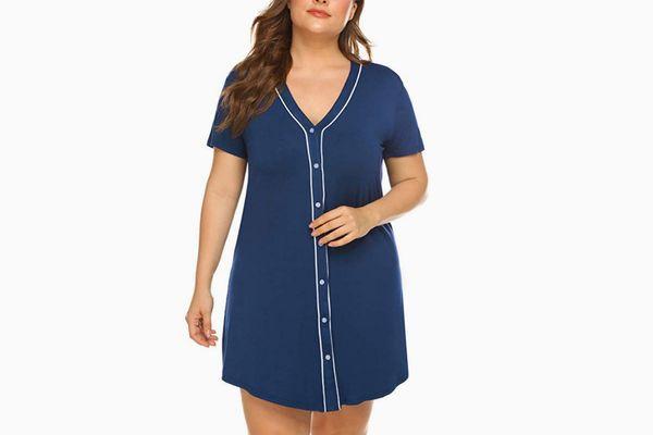 IN'VOLAND Womens Plus Size Sleepshirt