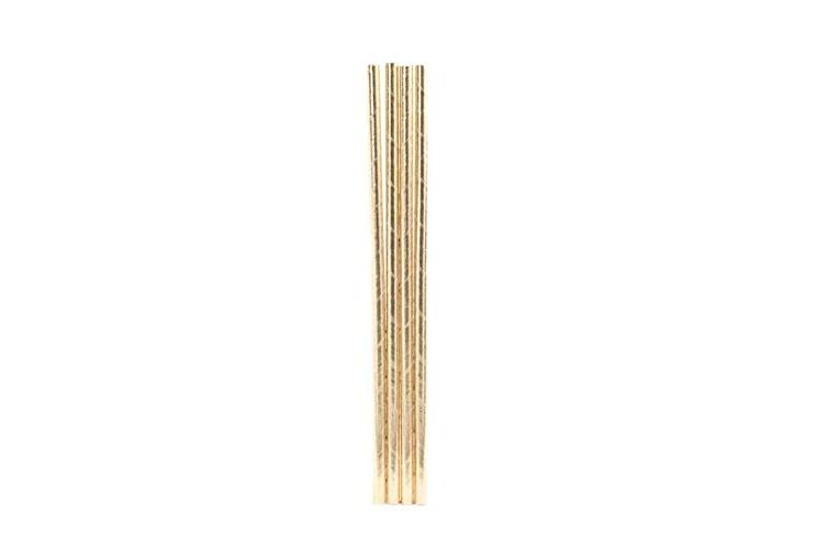 Kikkerland Gold Paper Straws
