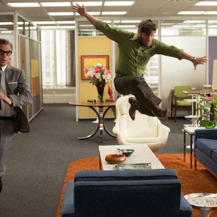 Jim Cutler (Harry Hamlin) and Stan Rizzo (Jay R. Ferguson) - Mad Men _ Season 6, Episode 8 _ 'The Crash' - Photo Credit: Jordin Althaus/AMC