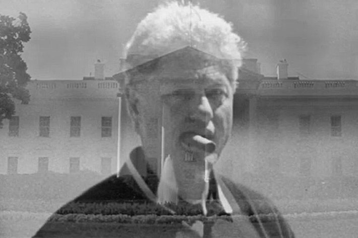 A still of Bill Clinton from the ad.