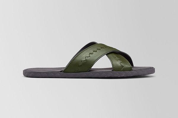Bottega Veneta Plage Crisscross Sandal in Calf
