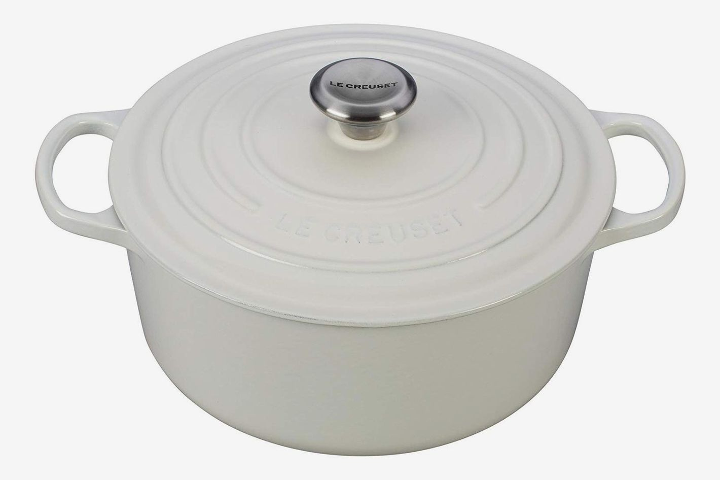 Le Creuset Signature Enameled Cast-Iron 5 1/2–Quart Round French (Dutch) Oven, White