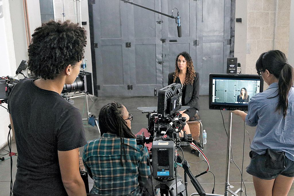 Ava DuVernay shooting 'The 13th'