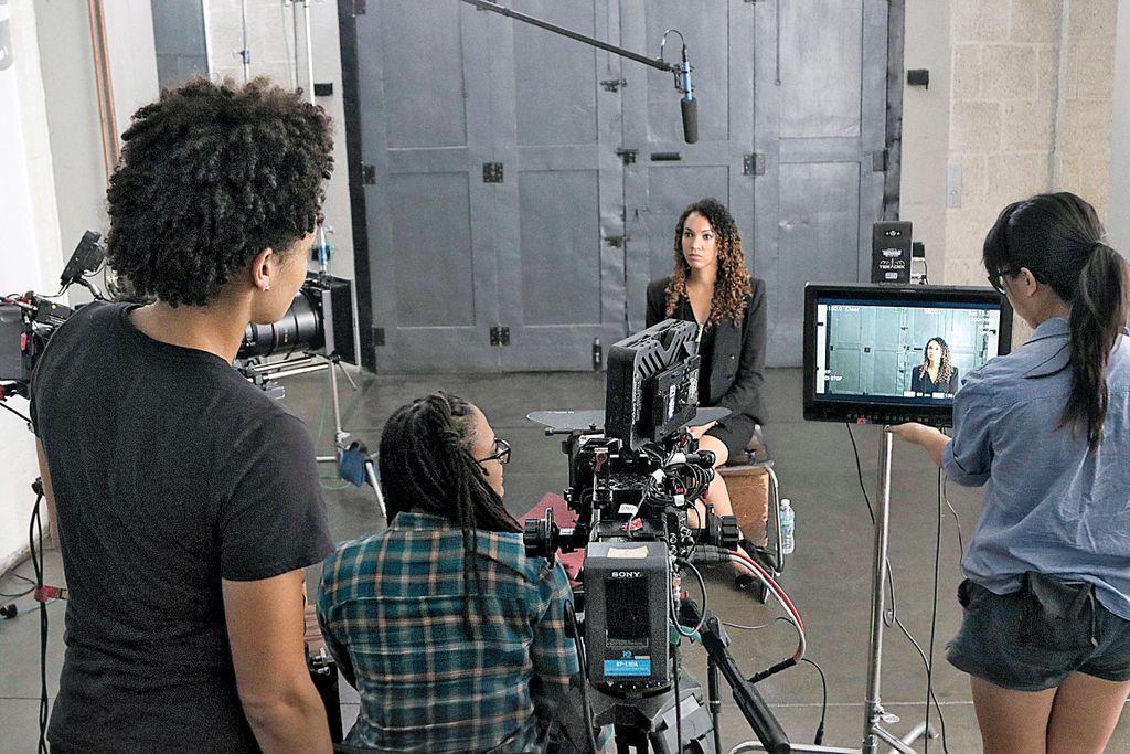 Ava DuVernay shooting 'The 13th'