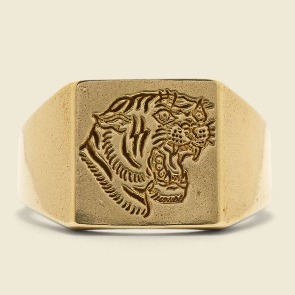 LHN Jewelry Tiger Signet Ring
