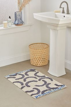 Modern Lines Textured Bath Mat