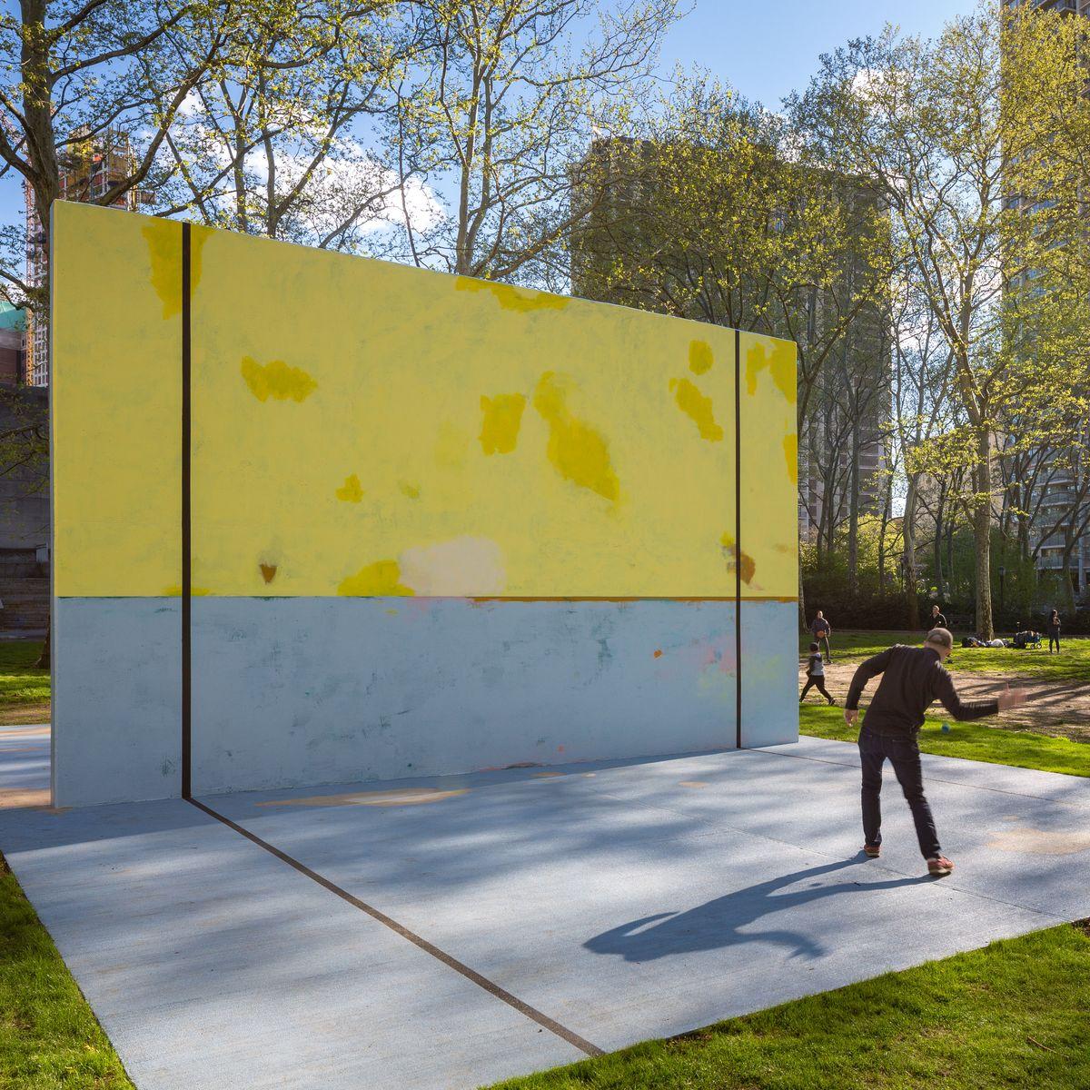 You Can Play Handball On This Brooklyn Art Installation
